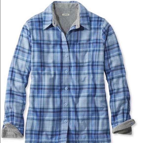2e7cf8768c0e8 L.L. Bean Tops - L.L. Bean Fleece-Lined Flannel Shirt. Women s M